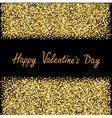 Happy Valentines Day Love Gold sparkles glitter