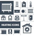 Heating Flat Icon Set vector image vector image