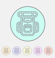 hiking backpack trekking camping icon flat web vector image vector image