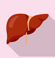 Human liver icon flat style