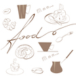 inscription food vector image vector image