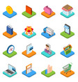 isometric shopping icon set 3d symbols vector image vector image