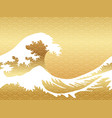 japanese vintage style seamless great waves vector image