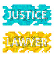 Justice Lawyer Outline Flat Concept vector image