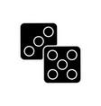 lottery black glyph icon vector image