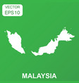 malaysia map icon business concept malaysia vector image vector image