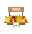 Market Stand With Fruits vector image