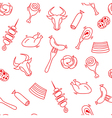 Meat seamless pattern with eat elements sausage a vector image vector image