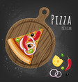 mexican pizza slice vector image vector image