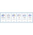 mobile app onboarding screens video games cyber vector image