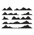 mountains silhouettes vector image vector image
