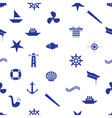 nautical icon seamless pattern eps10 vector image