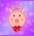 new year of the pig vector image