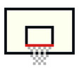 pixel basketball basket hoop pixel art cartoon vector image