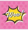 Pop art style Wow isolated sticker vector image vector image