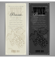 premiun wine menu vector image vector image