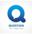 question q logo vector image