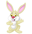 rabbit cartoon posing vector image vector image