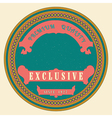Retro style badge vintage style vector image vector image