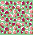 seamless background of a sweet strawberry vector image vector image