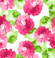 Seamless floral patter with pink roses vector image vector image