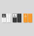 set menu format dl restaurants and cafes vector image vector image