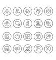 set round line icons of charity vector image