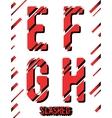 Slashed font template vector image vector image
