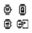 smartwatch simple related icons vector image