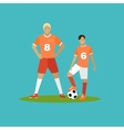 soccer player with equipment sport concept vector image