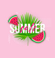 summer sale trendy modern background with liquid vector image