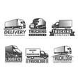 transportation logo silhouette truck various vector image