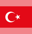 turkey flag official colors vector image vector image