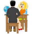 two persons at the table vector image vector image