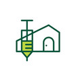 vaccine house home injection logo icon vector image