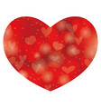 valentines day abstract heart shape background vector image vector image