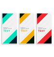 vertical business banners set design vector image vector image