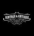 vintage badge border western antique frame label vector image vector image