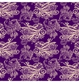 Violet floral seamless pattern vector image vector image