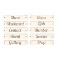 wood board menu bar vector image
