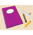 Writing Journal vector image vector image