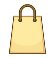 paper bag icon cartoon style vector image