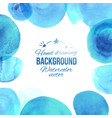 watercolor blu circles frame vector image