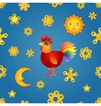 Red Rooster Seamless vector image