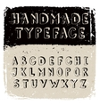 Handmade typeface vector image