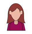 woman avatar icon image vector image