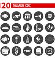 Aquarium Icons vector image