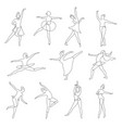 ballet or contemporary dancer outline isolated vector image vector image