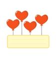 Balloons hearts set vector image
