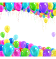 Banner of balloons vector image